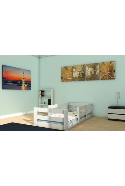 Nevramo Sardunya Montessori Karyola- 90 x 190 cm Yatağa Uyumlu