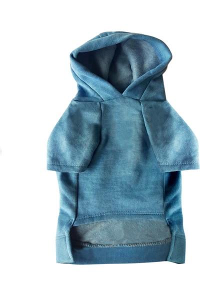 Chili Winner Kapşonlu Mavi Sweatshirt XXXL