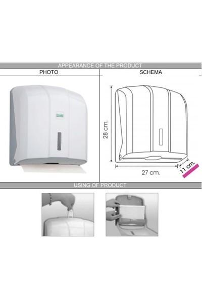 Vialli KH300 Z Katlı Kağıt Havlu Dispenseri Beyaz 300'lü