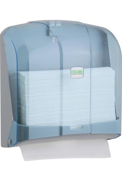 Vialli KH300T Z Katlı Kağıt Havlu Dispenseri Şeffaf 300'lü