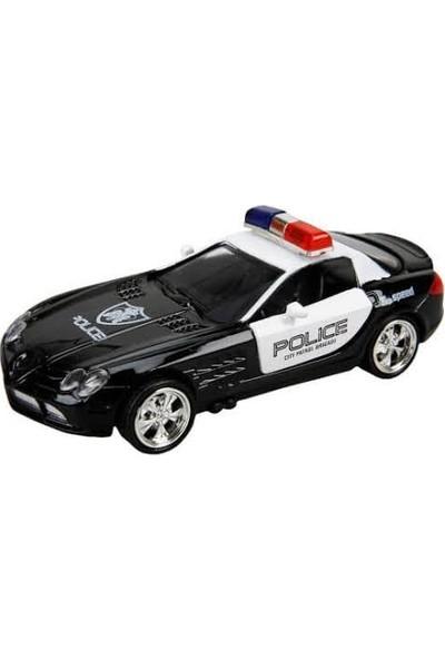 Maxx Wheels Sesli ve Işıklı Polis Arabası 13 cm Siyah