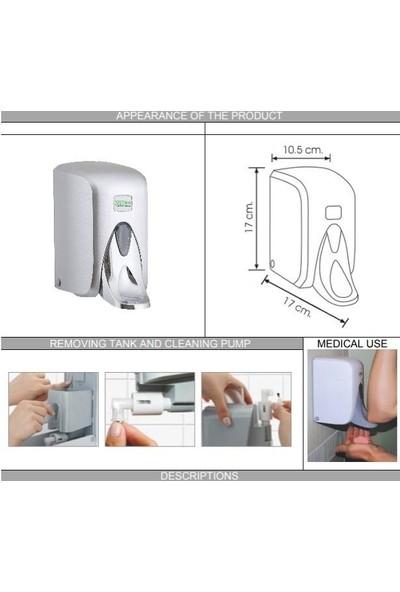 Vialli S5MC Medical Sıvı Sabun Dispenseri Gri 500 ml