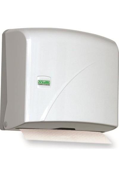 Vialli K1 Z Katlı Kağıt Havlu Dispenseri Beyaz 200'lü