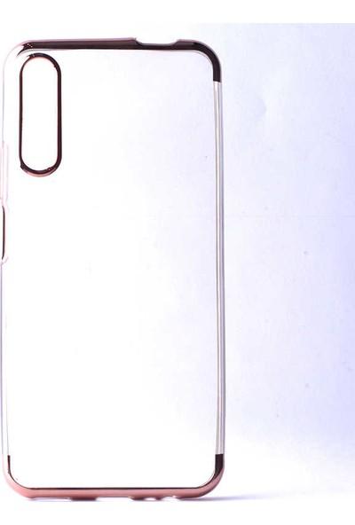 Tekno Grup Huawei P Smart Pro 2019 Kılıf Dört Köşe Renkli Lazer Silikon Rose