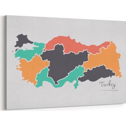 Tabrika Turkiye Bolgeler Haritasi Tablosu Fiyati