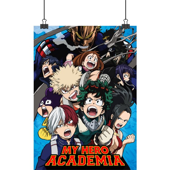 13 Poster My Hero Academy Boku No Hero Academia Animesi Afiş 48 x 33 cm Posteri