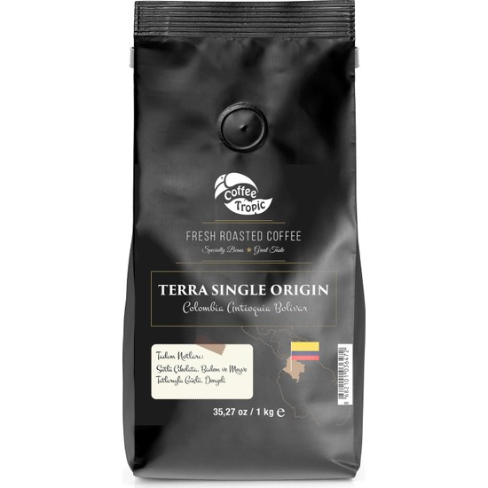 Coffeetropic Terra Single Origin Colombia Antioquia Bolivar 1 Kg