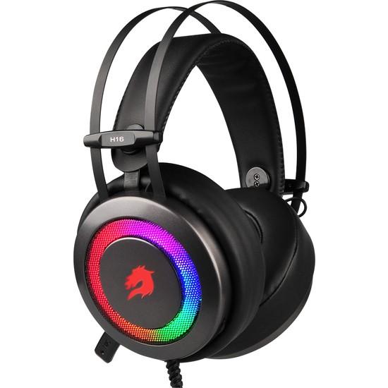 GameBooster H16 Storm RGB 7.1 Vitrual Kısa Mikrofonlu Gri Oyuncu Kulaklığı GB-H16