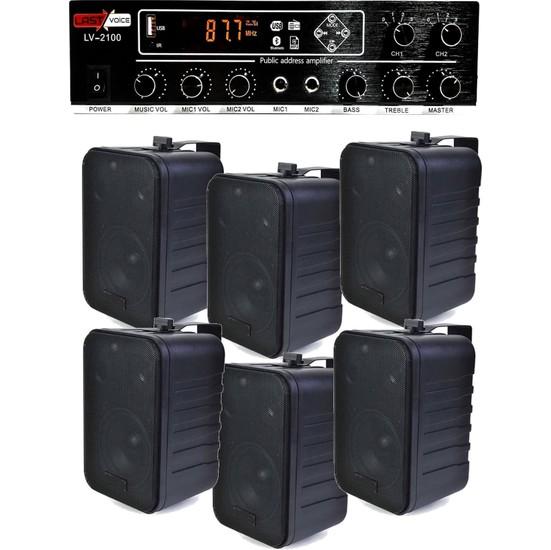 Lastvoice Hoparlör ve Anfi Mağaza Ses Sistemi Black Soft Paket-4