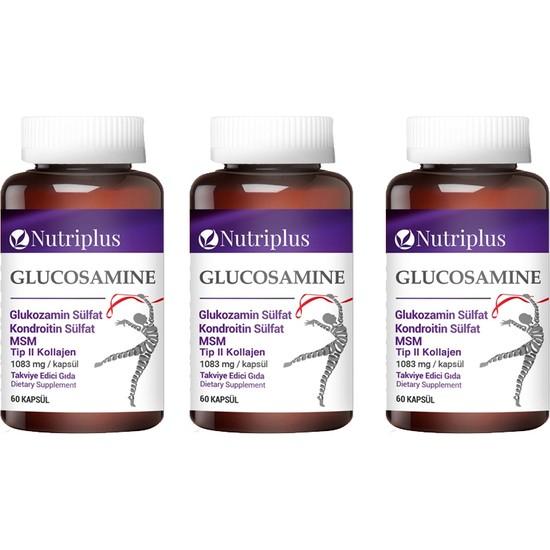 Nutriplus Glukozamin Kondroitin 60 Kapsül 3 Adet