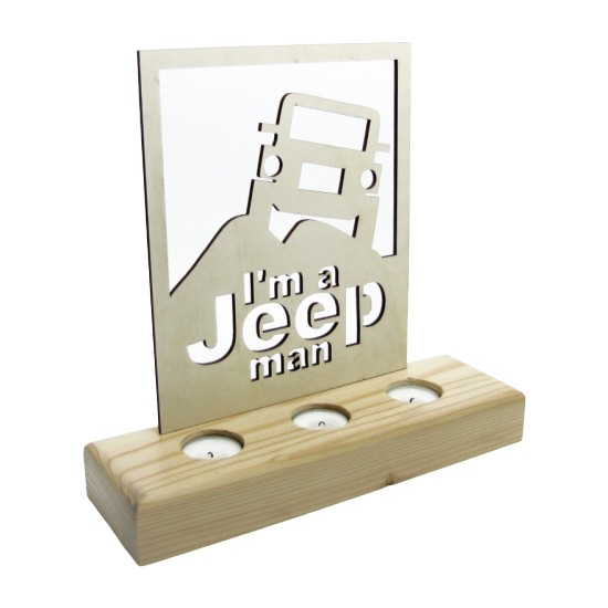 Didideko Ahşap Tealight Mumluk Jeep