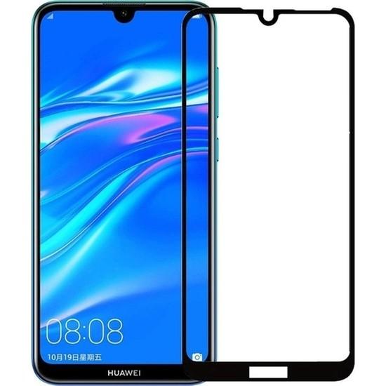 Ehr. Huawei Y5 2019 5D Fiber Nano Ekran Koruyucu Cam - Siyah