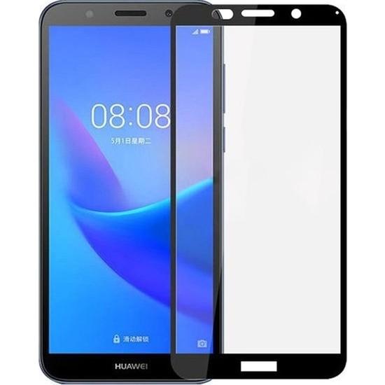 Ehr. Huawei Y5 2018 5D Fiber Nano Ekran Koruyucu Cam - Siyah
