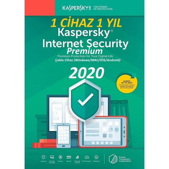 Kaspersky internet Security Premium 2020 1 Bilgisayar 1 Yıl