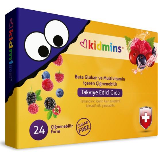 Mothersmart Kidmins Bağışıklık Sistemini Destekleyici Beta Glukan İçeren Çocuk Vitamini 24'lü