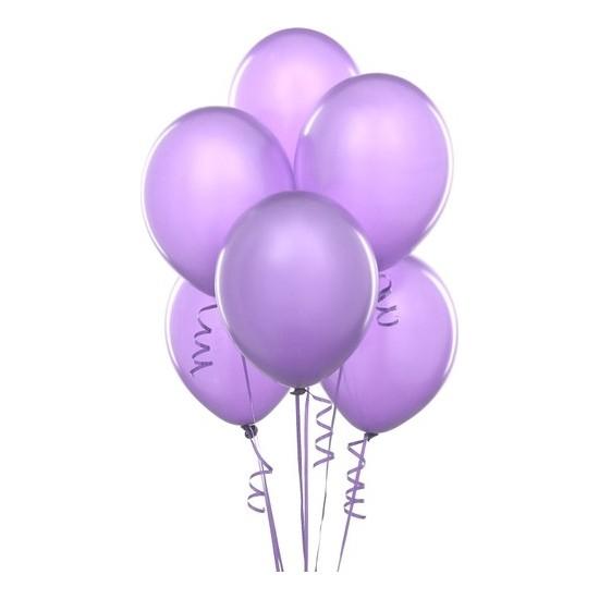 Datapos Metalik Açık Violet Lila Balon 15 Adet