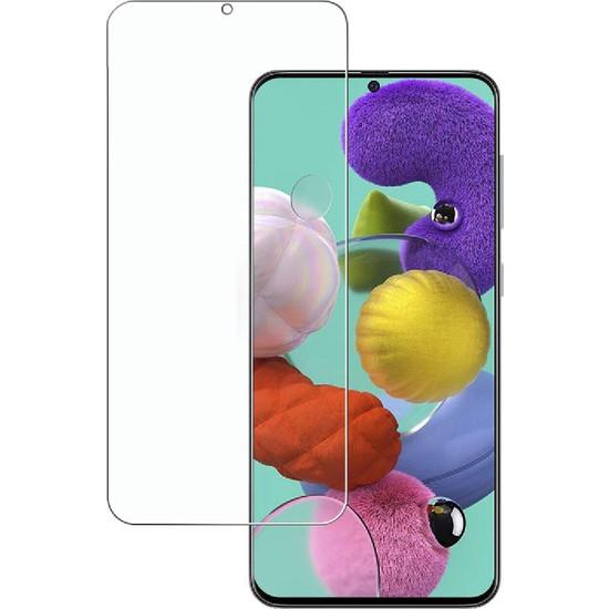 Case 4U Samsung Galaxy A51 Cam Ekran Koruyucu Temperli Şeffaf