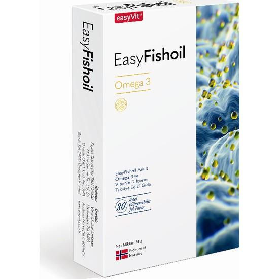 Easyvit Easyfishoil Omega 3 Yetişkin Çiğnenebilir 30 Jel Tablet