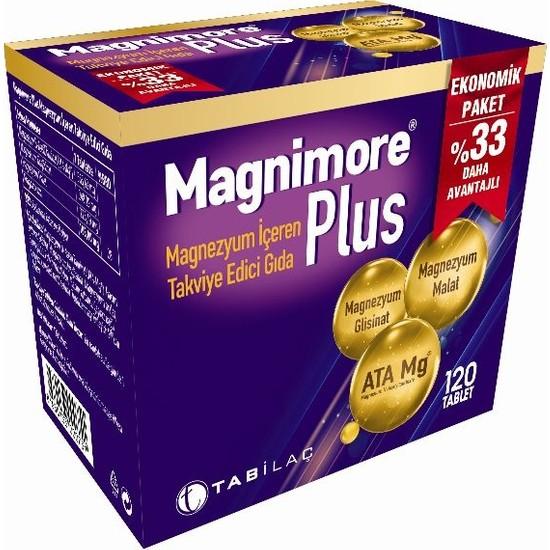 Tab İlaç Magnımore Plus 120 Tablet Ekonomik Paket %33 Daha Avantajlı