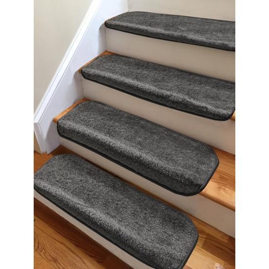 Stepmat Koyu Füme Kendinden Yapışkanlı Merdiven Basamak Paspası Halısı