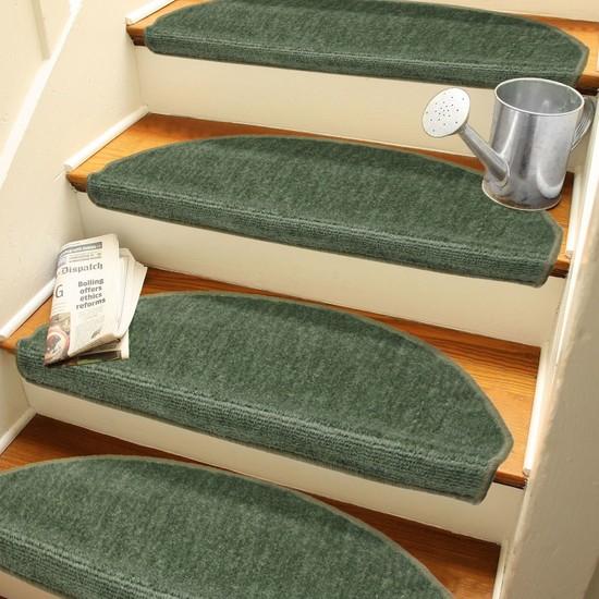 Stepmat Yeşil Kendinden Yapışkanlı Merdiven Basamak Paspası Halısı