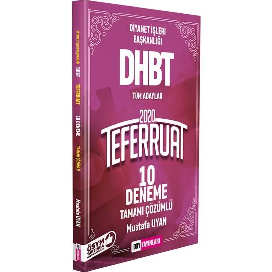 Ddy Yayınları DHBT 2020 Teferruat Serisi Tamamı Çözümlü 10 Deneme