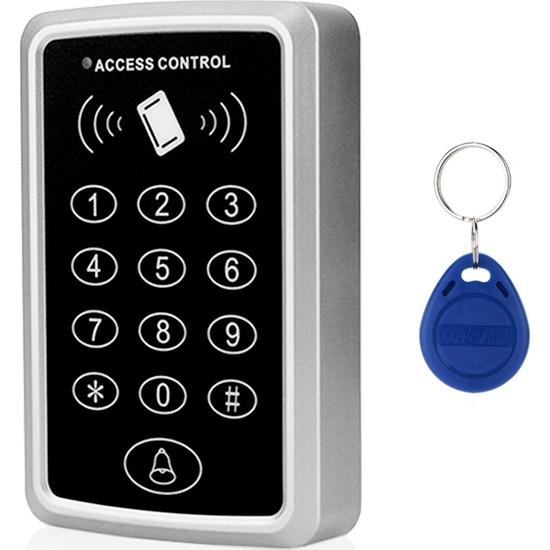 Rfıd Şifreli Kapı Kilidi - Kartlı Geçiş Sistemi + 10 Adet Manyetik Anahtarlık