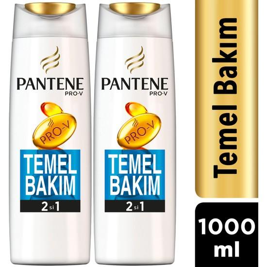Pantene 2'si 1 Arada Şampuan ve Saç Bakım Kremi Temel Bakım 500 ml x 2