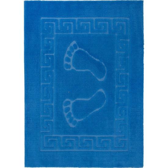 Miss Line Welsoft Ayak İzli Kaymaz Paspas 50 x 70 cm P-04 Mavi