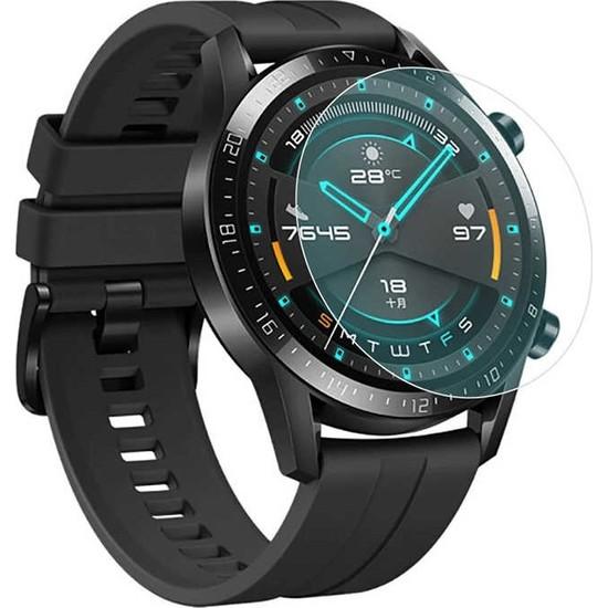 Eiroo Huawei Watch GT 2 Tempered Glass Cam Ekran Koruyucu (46 mm)
