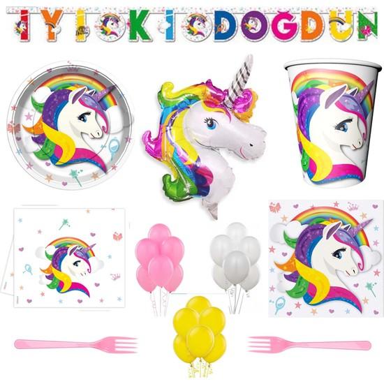 Gökçe Unicorn 16 Kişilik Doğum Günü Parti Seti