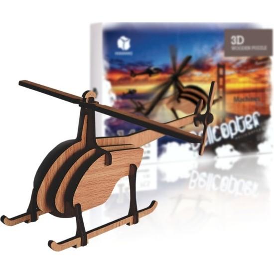 Pershang Bel Helikopteri 14 Parça Ahşap 3D Puzzle