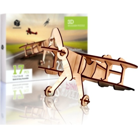Pershang 2 Kanatlı Uçak 17 Parça Ahşap 3D Puzzle