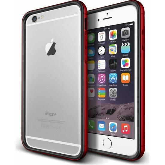 VRS Design iPhone 6 Plus / 6S Plus Iron Bumper Kılıf Black Kiss Red