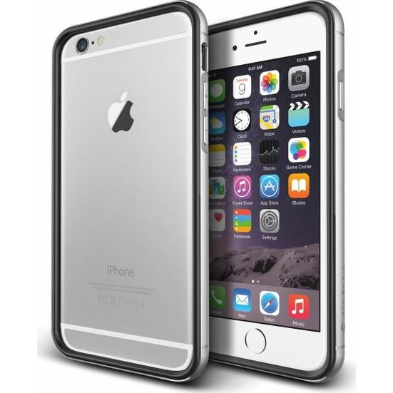 VRS Design iPhone 6 Plus / 6S Plus Iron Bumper Kılıf Black Silver
