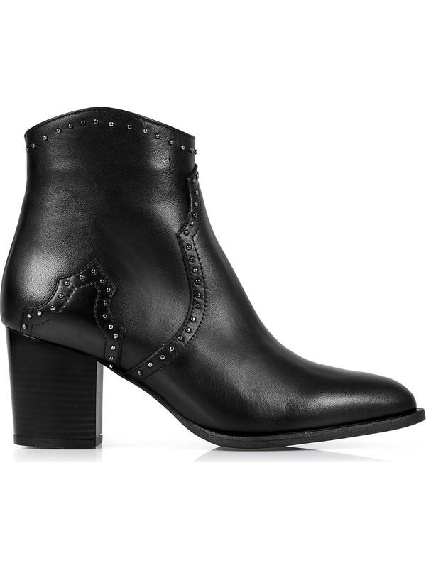Oblavion Rice Siyah Topuklu Çizme