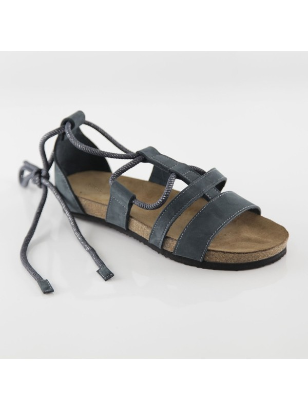ART'iz Troya Deri Lacivert Slim Sandalet 39