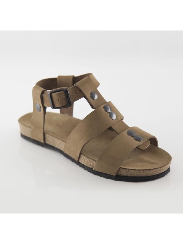 ART'iz Assos Deri Kum Slim Sandalet 41