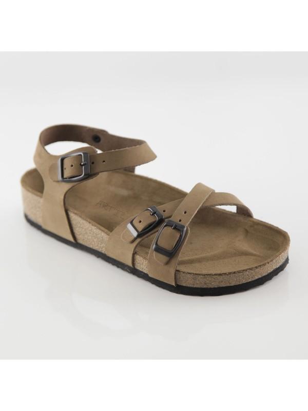 ART'iz Pergamon Deri Kum Çift Şeritli Sandalet 41