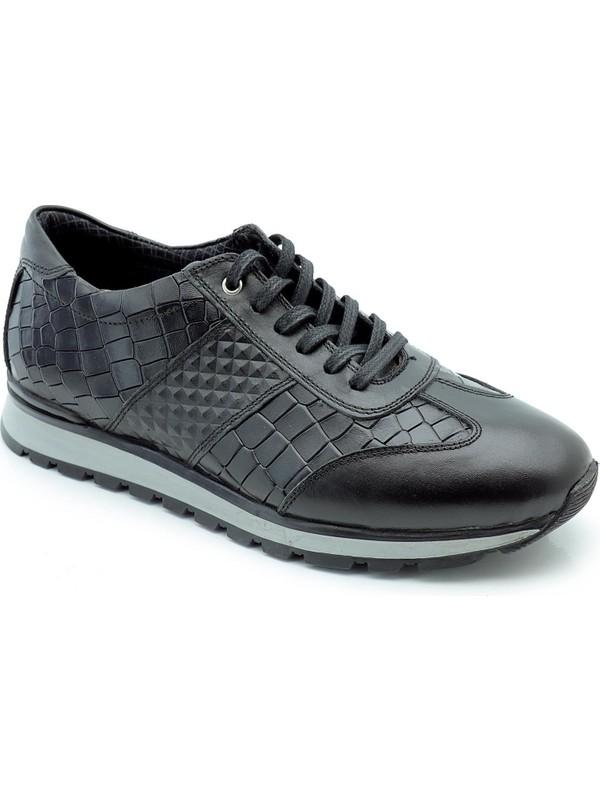 Man U962 Timsah Deri Desenli Ayakkabı 40