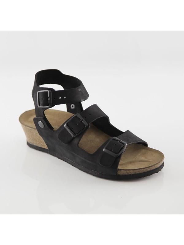 ART'iz Alabanda Siyah Platform Sandalet