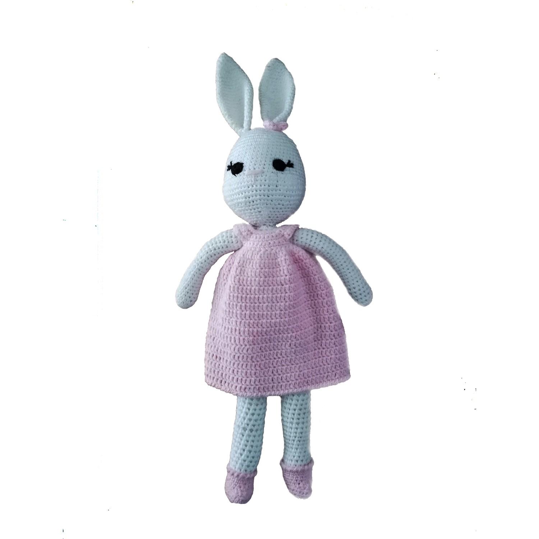 Amigurumi Sarkık Kulaklı Tavşan Tarifi, Amigurumi tavşan yapımı | 1500x1500