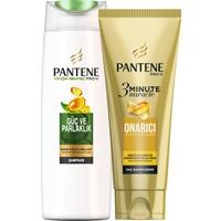 Pantene Güç ve Parlaklık 360 ml Şampuan + 3 Minute Miracle 200 ml Saç Bakım Kremi