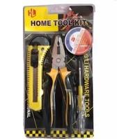 Home Tool Kit Pense Kontrol Kalemi Elektrik Bandı Falçata Seti