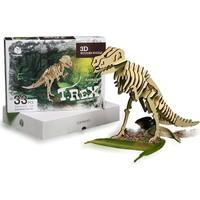 Pershang T-Rex Dinazor 33 Parça Ahşap 3D Puzzle