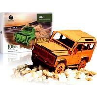 Pershang Land Rover Jeep 106 Parça Ahşap 3D Puzzle