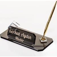 Promofis Kabartma Yazılı Masa İsimlik Ofis Masa İsimliği - Midilli