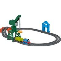 Thomas & Friends™ Thomas ve Cranky Kargo Macerası (Sür-Bırak Trenli) - Oyuncak Motorlu Tren, Lokomotif, Vinç, Tünel Dahil - GFJ76