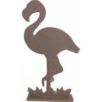 Ahşap Sanat Hane Ayaklı Flamingo Orta