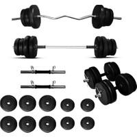 Borçinspor Halter-Dambıl Seti Z Barlı Ağırlık Seti Vücut Geliştirme Seti 48 kg